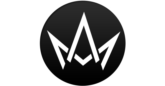 Men's - Front & Back Crown Logo Black T-Shirt - Medium