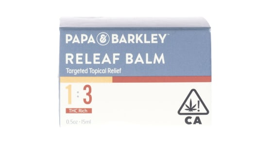 Papa & Barkley - Releaf Balm 1:3 THC - 15ml