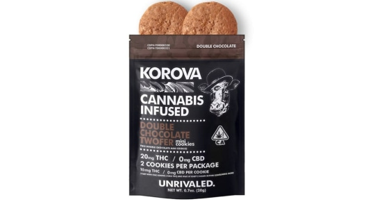 Korova - Double Chocolate Twofer Mini Cookies - 20mg
