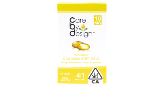 Care By Design - 10 Soft Gels 4:1 - 10mg