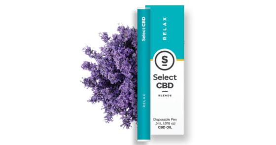 Select Oil - Relax Lavender CBD Disposable Pen - 0.5g