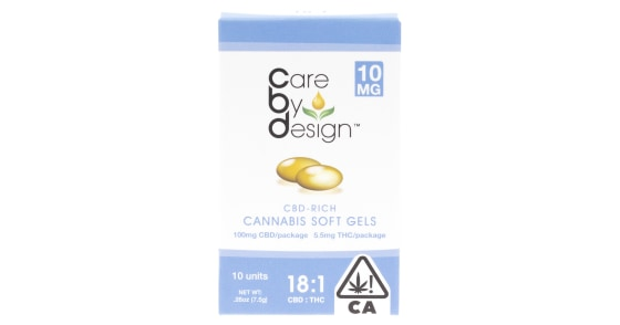 Care By Design - 10 Soft Gels 18:1 - 10mg