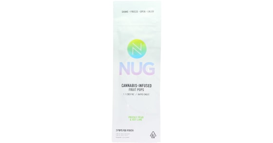 NUG - 1:1 Prickly Pear & Key Lime Fruit Pops - 40mg
