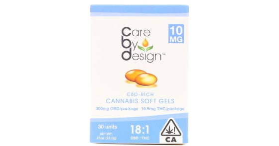 Care By Design - 30 Soft Gels 18:1 - 10mg