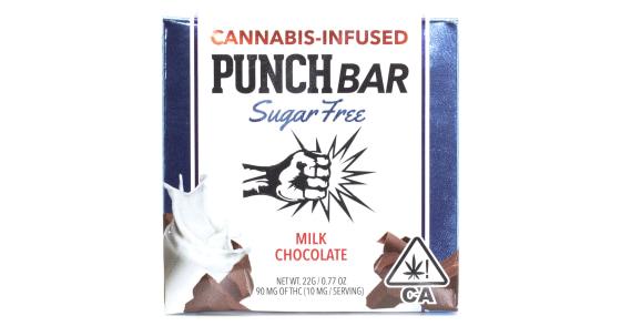 Punch Edibles - Sugar Free Milk Chocolate Bar - 90mg
