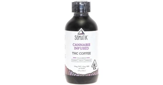 Somatik - THC Cannabis Infused Cold Brew Coffee - 4oz
