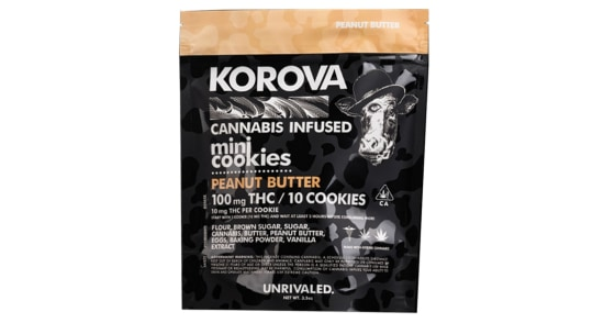 Korova - Peanut Butter Mini Cookies - 100mg
