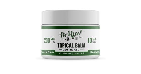Dr. Raw Organics - Relax Formula THC Balm - 3.75oz