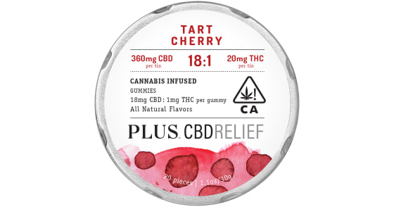 Plus - Tart Cherry 18:1 Relief Gummies - 380mg