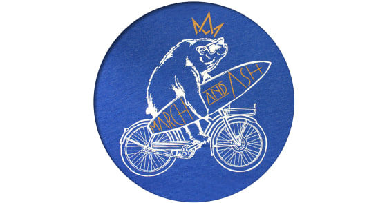 Men's - Blue Beach Cruise Bear T-Shirt - Large