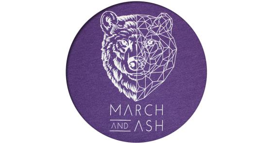 Women's - Purple Geometric Bear T-Shirt - 2XL