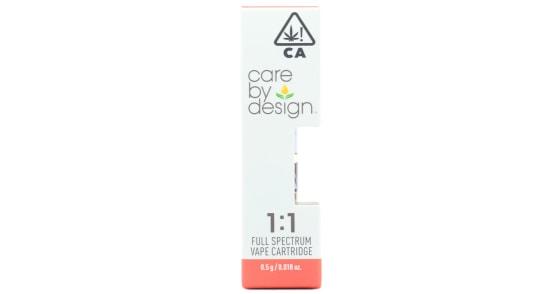 Care By Design - 1:1 CBD Cartridge - 0.5g