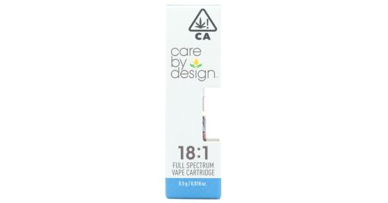 Care By Design - 18:1 CBD Cartridge - 0.5g