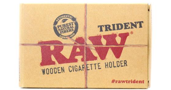 RAW - Trident Wooden Cigarette Holder