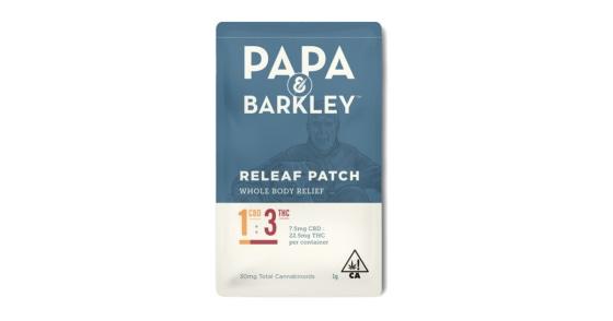 Papa & Barkley - Releaf Patch - THC Rich 1:3
