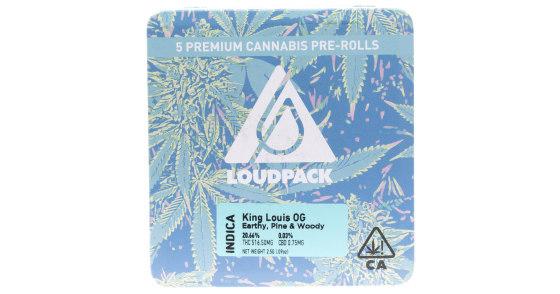 Loudpack - King Louis OG - 5 Pack Pre-Rolls