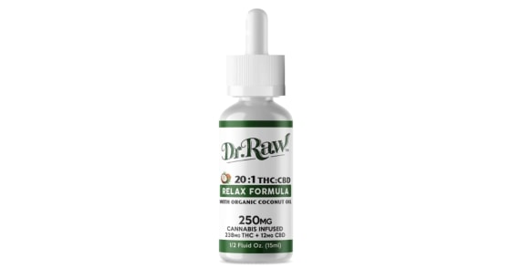 Dr. Raw Organics - Relax Formula THC Tincture - 15mL