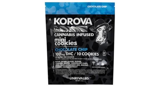 Korova - Chocolate Chip Mini Cookies - 100mg