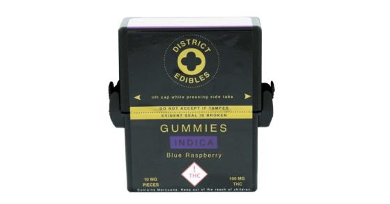 District Edibles - Blue Raspberry Gummies - 100mg