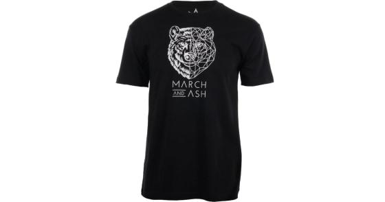 Men's - Black Geometric Bear T-Shirt - XL