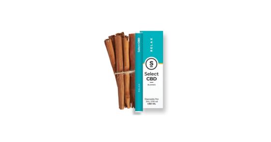 Select Oil - Relax Cinnamon CBD Disposable Pen - 0.5g