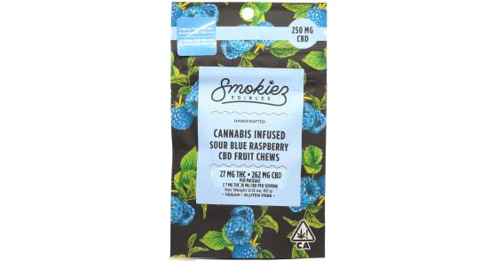 Smokiez Edibles - Sour Blue Raspberry Cannabis Infused CBD Fruit Chews - 250mg