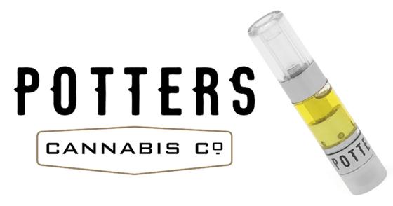 Potters Cannabis Co. - Blueberry Kush Cartridge - 0.5g