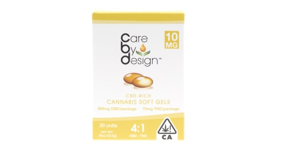Care By Design - 30 Soft Gels 4:1 - 10mg