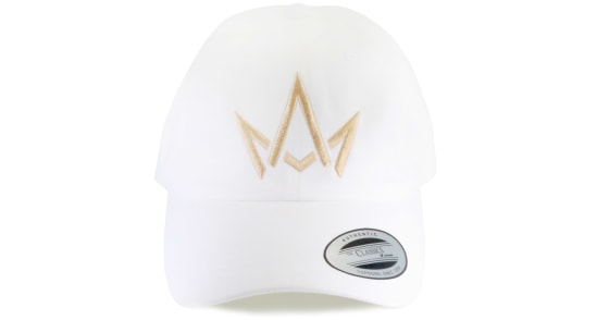 March And Ash - White Hat Crown Logo - DAD Hat