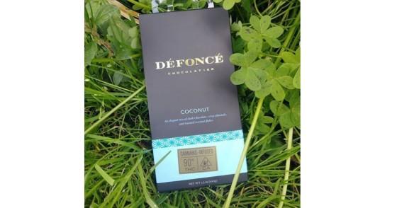 Defonce Chocolatier - Coconut Dark Chocolate Bar - 90 mg
