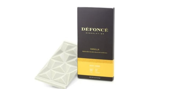 Defonce Chocolatier - Vanilla Chocolate Bar - 90 mg