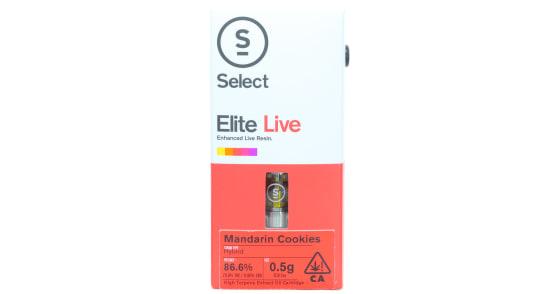 Select Oil - Mandarin Cookies Live Resin Cartridge - 0.5g