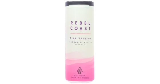 Rebel Coast - Pink Passion Cannabis Infused Beverage - 10mg