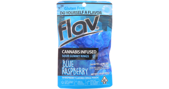 Flav - Blue Raspberry Rings - 100mg