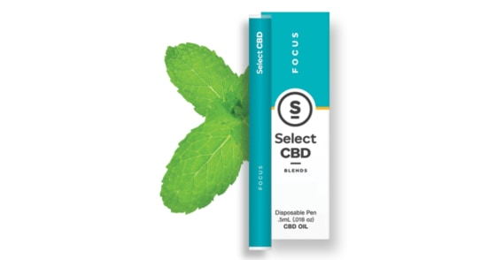 Select Oil - Focus Spearmint CBD Disposable Pen - 0.5g