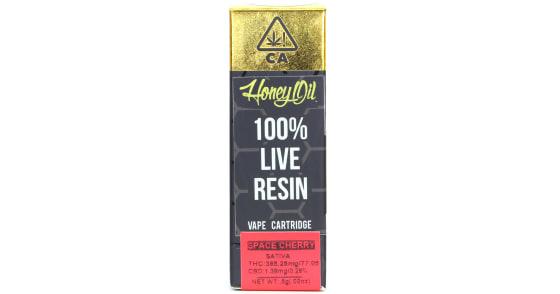Honey Oil - Space Cherry Live Resin Cartridge - 0.5g