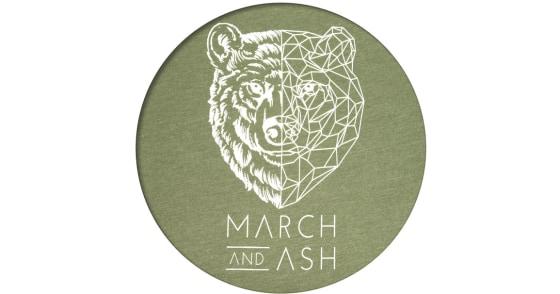 Women's - Green Geometric Bear T-Shirt - Small