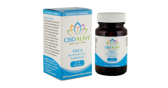 CBDAlive - 1:5 THCA Delayed Release Capsules - 20ct