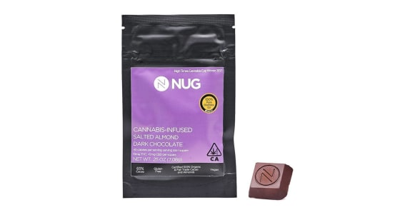 NUG - Salted Almond Dark Chocolate 0.25oz