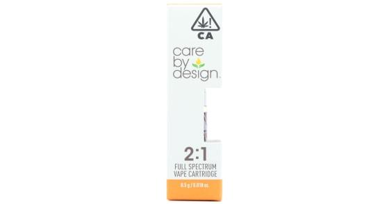 Care By Design - 2:1 CBD Cartridge - 0.5g