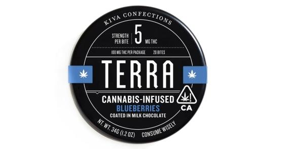 Kiva Terra - Milk Chocolate Blueberries - 100mg