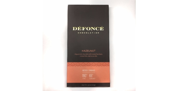 Defonce Chocolatier - Hazelnut Chocolate Bar - 90 mg