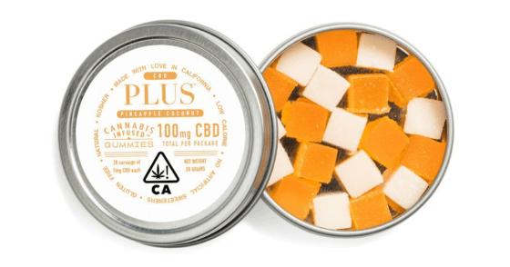Plus - Pineapple & Coconut CBD Relief Gummies - 100mg