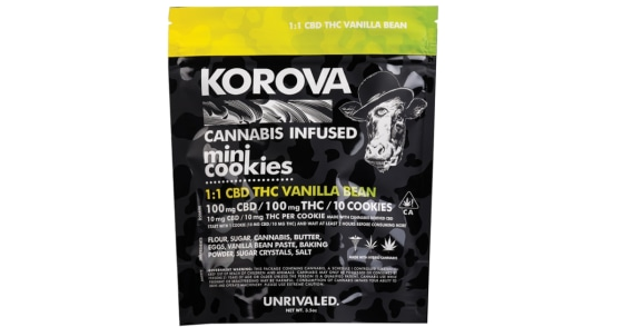 Korova - 1:1 Vanilla Bean Mini Cookies - 200mg
