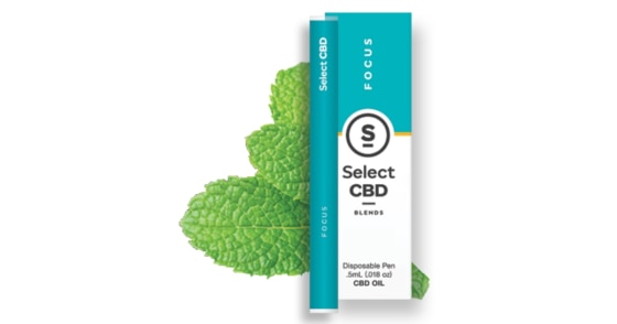 Select Oil - Focus Peppermint CBD Disposable Pen - 0.5g