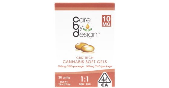 Care By Design - 30 Soft Gels 1:1 - 10mg