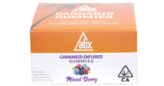 ABX - Mixed Berry Gummies - 100mg