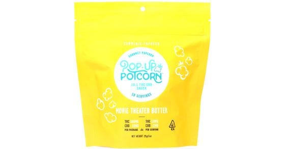 Pop-Up Potcorn - 10:1 Movie Theater Butter Pre-Popped Popcorn - 110mg