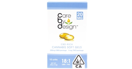 Care By Design - 10 Soft Gels 18:1 - 20mg Extra Strength