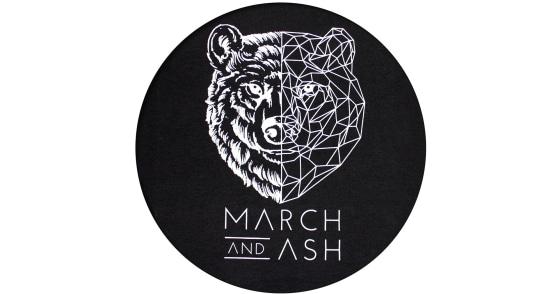 Men's - Black Geometric Bear T-Shirt - XS
